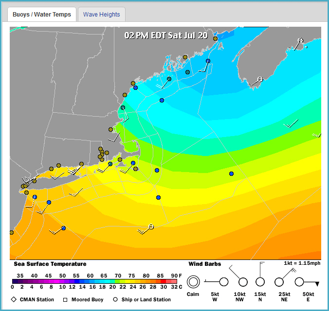 I Offer Up This Sea Surface Temperature Map Of Atlantic Canada And This One Of United States Northeast